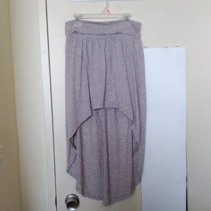 Forever 21 Grey High-Low Maxi Skirt